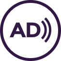 The audio description logo